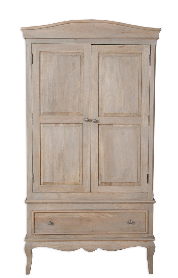 Bordeaux Grey Shabby Chic  Double Wardrobe