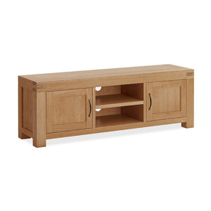 Chunky Oak TV Unit 2 Door Large