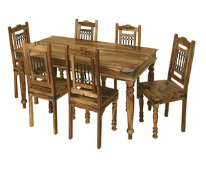 Jali Indian Rosewood Large Dining Table - 180cm