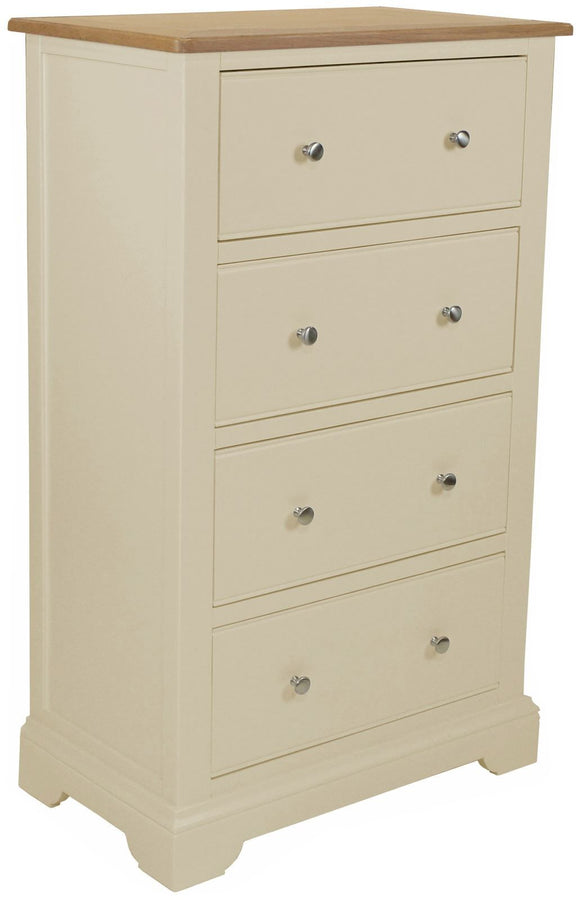 Harmony Oak 4 Drawer Tall Chest of Drawers