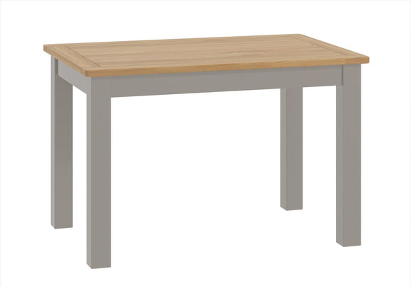 Oregon Oak Fixed Dining Table - Stone