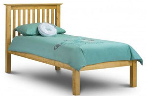 Madrid Bedroom Low End Bed Frame - Pine