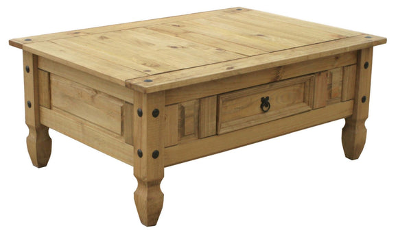 Corona Mexican Pine  1 Drawer Coffee Table