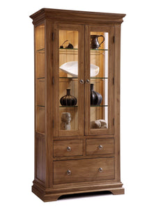 Regency Oak  Glazed Display Unit