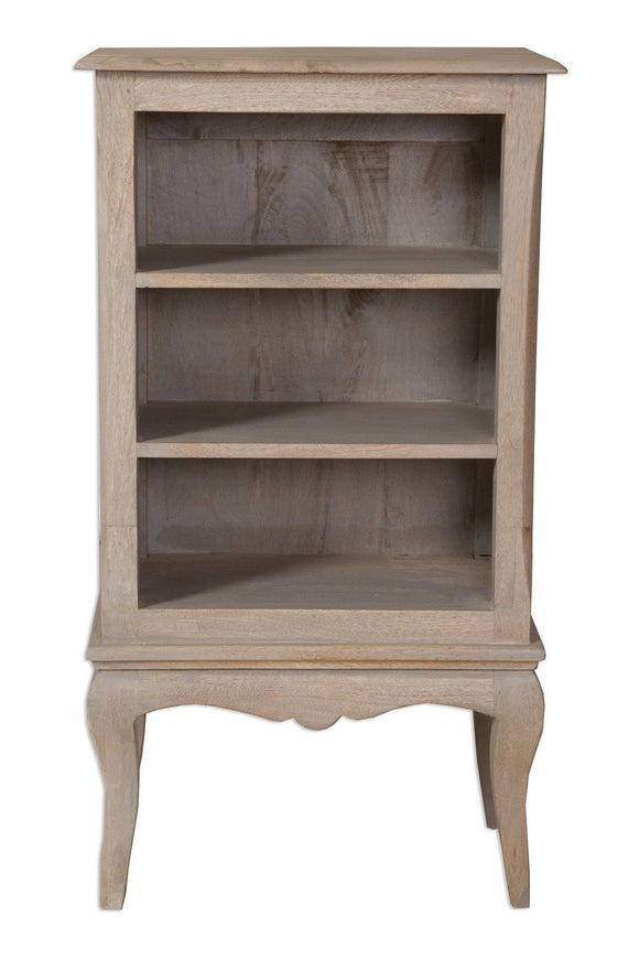 Bordeaux Grey Shabby Chic  Small Bookcase