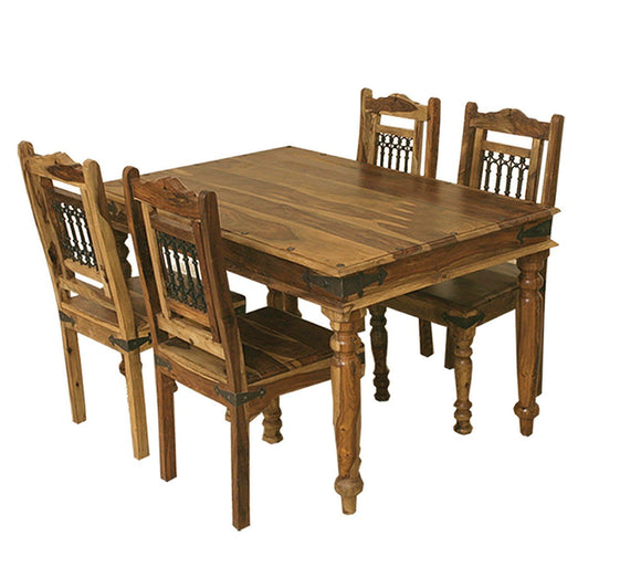 Jali Indian Rosewood Medium Dining Table - 135cm
