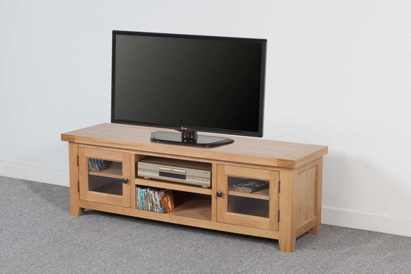 Devonshire Oak Extra Wide Large TV Unit