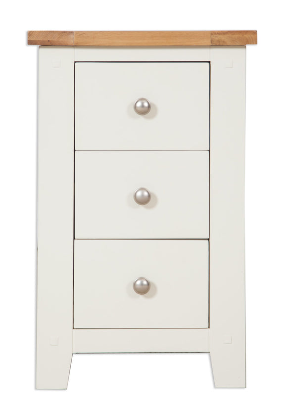 Canberra Painted      Bedside Cabinet - Ivory