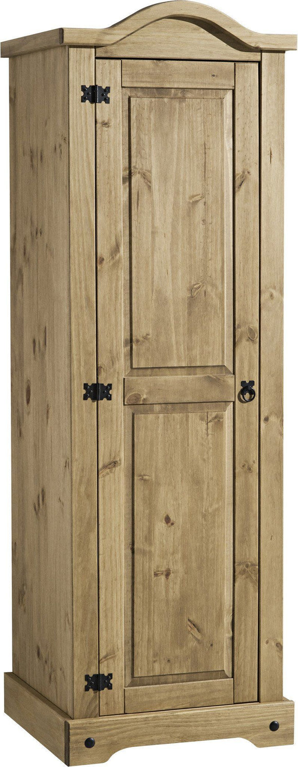 Corona Mexican Pine   Single 1 Door Wardrobe