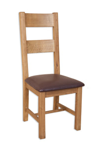 Canberra Oak Dining Chair - Rustic Finish