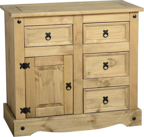 Corona Mexican Pine   3' Sideboard 4 Drawers 1 Door