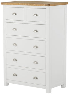 Oregon Oak 2 over 4 Chest - White
