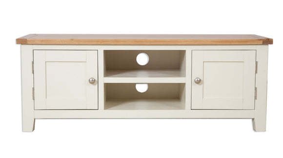Canberra Painted Extra Wide TV Unit - Ivory