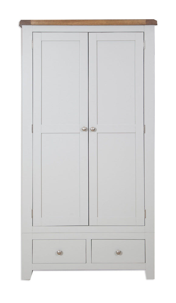 Canberra Painted    Double Wardrobe - Grey