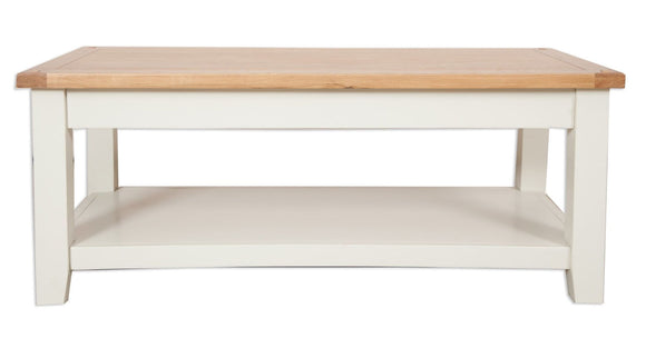 Canberra Painted      Coffee Table - Ivory