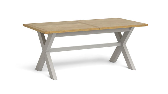 Guilford Oak Cross Leg Extendable Table