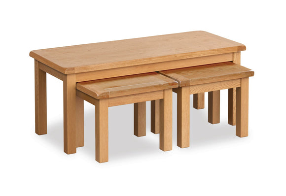 Manor Oak Long John Nest of Tables