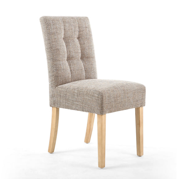 Accent Dining Chair - Stitched Waffle Chair - Oatmeal Tweed
