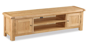 Manor Oak Large Low Line TV Unit