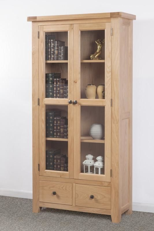 Devonshire Oak Glazed Display Unit