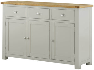 Oregon Oak 3 Door Sideboard - Stone