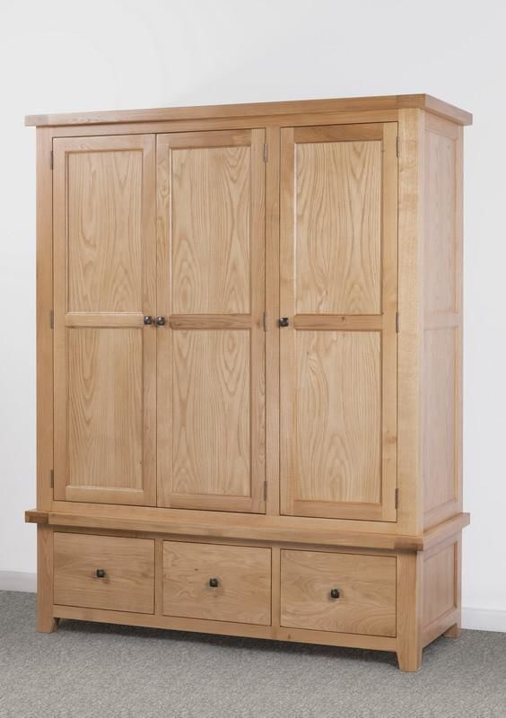 Devonshire Oak  Triple Wardrobe
