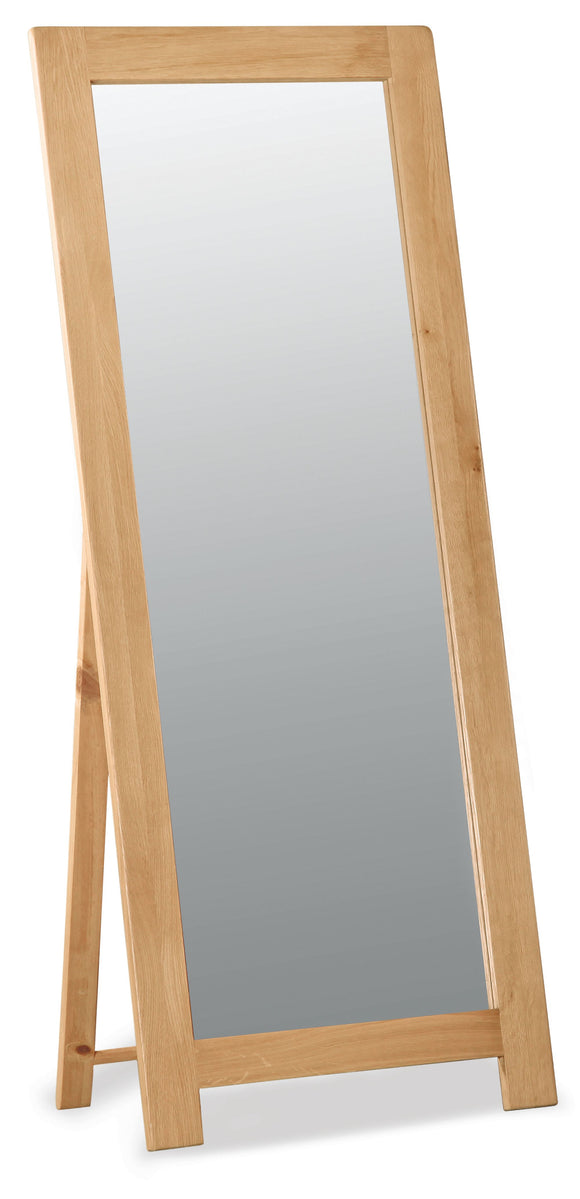 Manor Oak Cheval Mirror