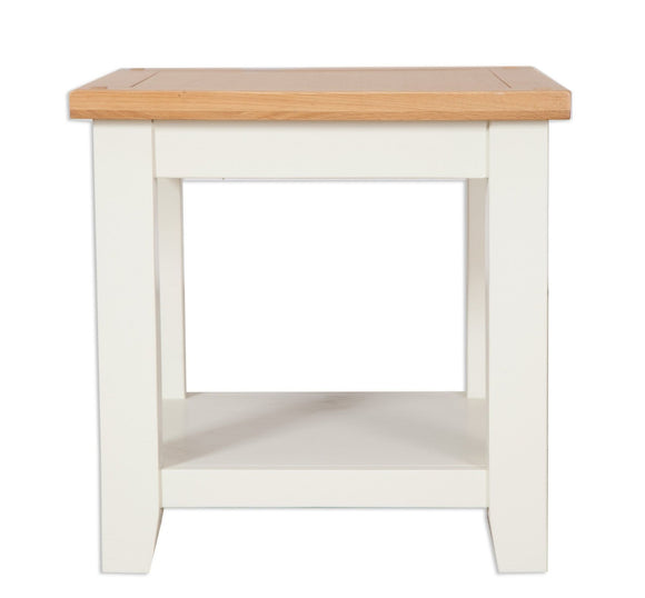 Canberra Painted    Lamp Table - Ivory