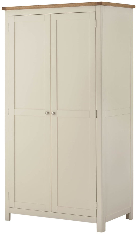 Oregon Oak 2 Door Wardrobe - Cream