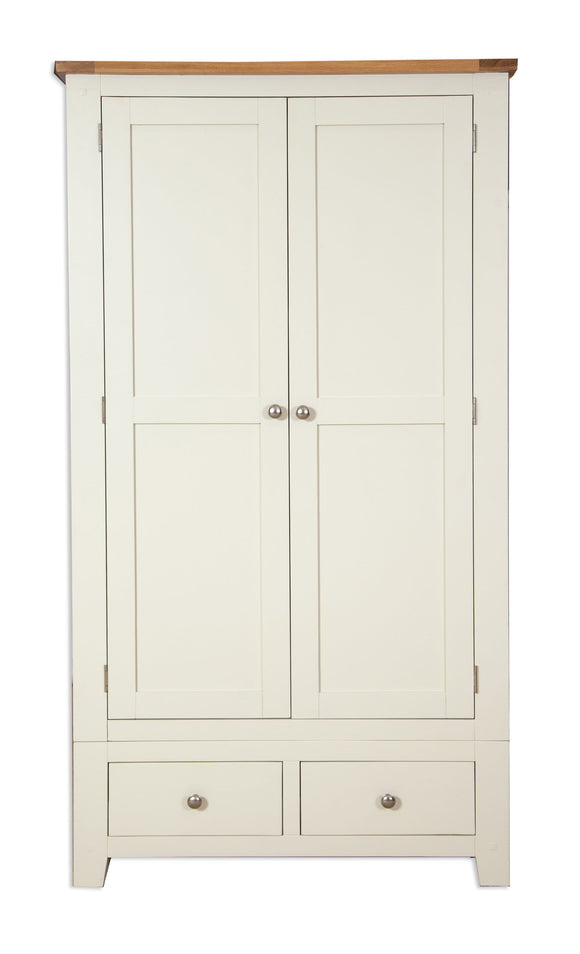Canberra Painted    Double Wardrobe - Ivory