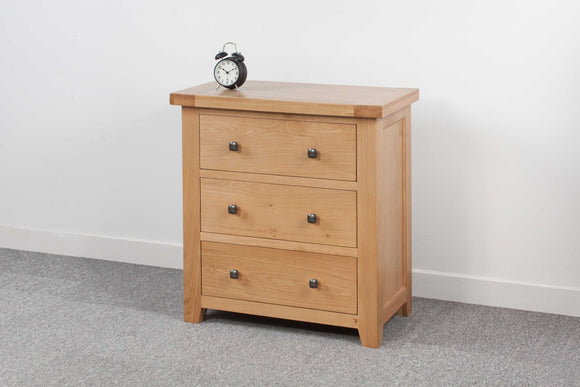 Devonshire Oak 3 Drawer Chest