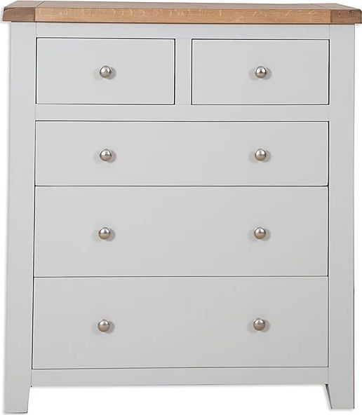Canberra Painted 2 over 3 Chest of Drawers - Grey