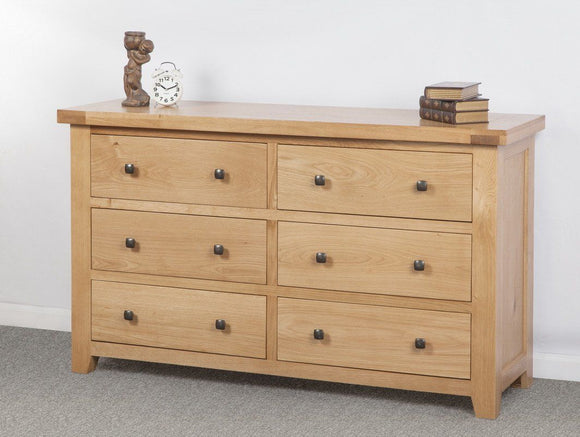 Devonshire Oak 6 Drawer Wide Chest