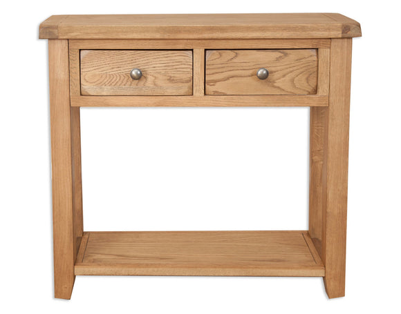 Canberra Oak Console Table - Rustic Finish