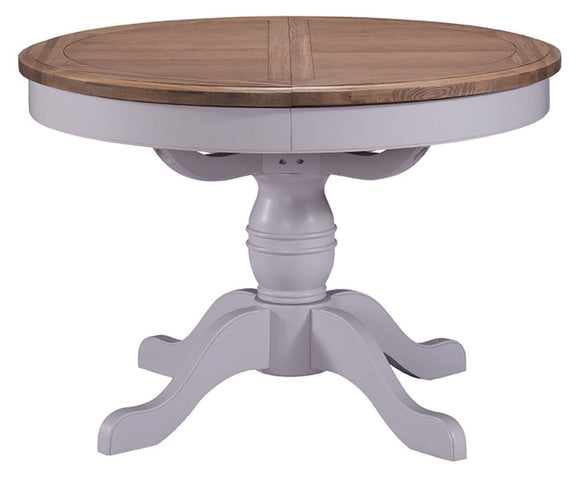 Oxford Grey Painted Round Extending Dining Table