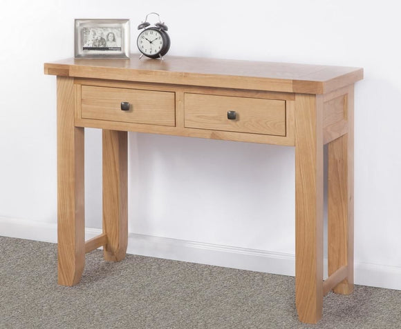 Devonshire Oak  Large 2 Drawer Console Table