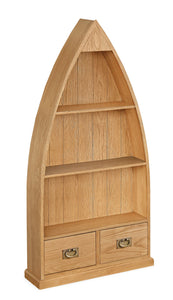 Manor Oak Lite Boat Bookcase