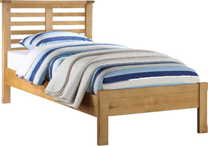 Brookdale Single Bed Frame - Natural Oak