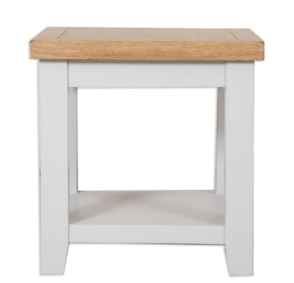 Canberra Painted Lamp Table - Grey