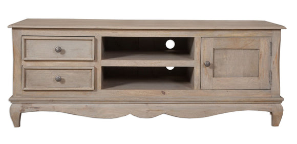 Bordeaux Grey Shabby Chic  Plasma TV Unit