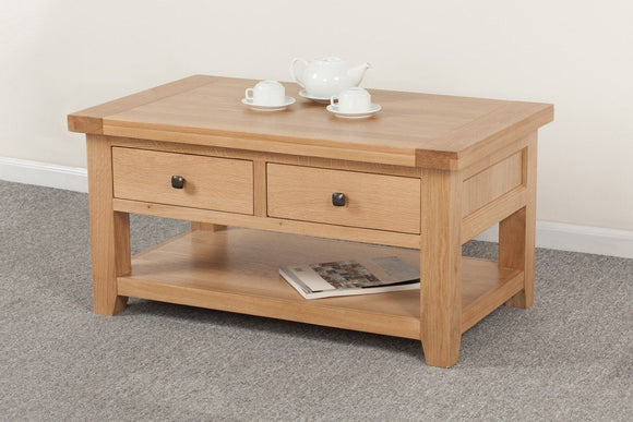 Devonshire Oak 2 Drawer Coffee Table