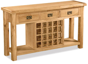 Manor Oak Open Sideboard