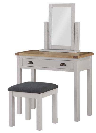 Brookdale Dressing Table Set - Stone Grey