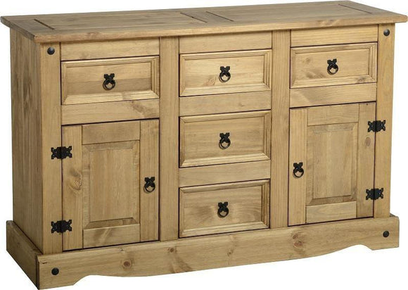 Corona Mexican Pine   4'6 Sideboard 5 Drawers 2 Door