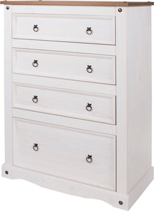 Corona White Pine 4 Drawer Chest