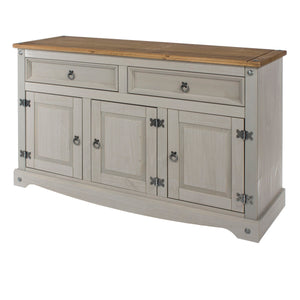 Corona Grey Washed Pine Medium Sideboard