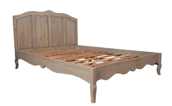 Bordeaux Grey Shabby Chic  Bed Frame - Double
