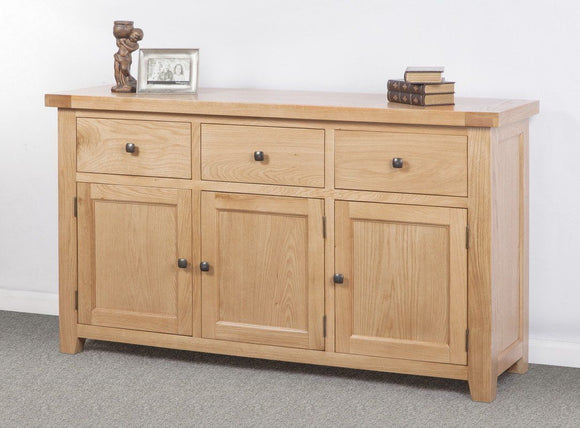Devonshire Oak 3 Door Triple Sideboard