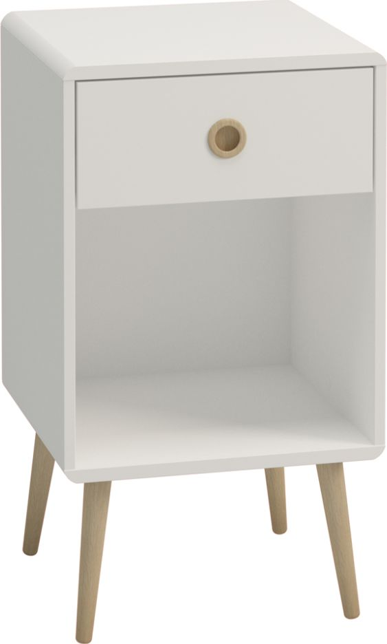Softline 1 Drawer Bedside