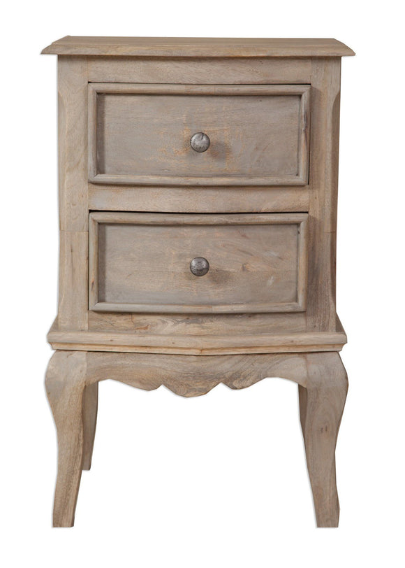 Bordeaux Grey Shabby Chic  2 Drawer Bedside Cabinet